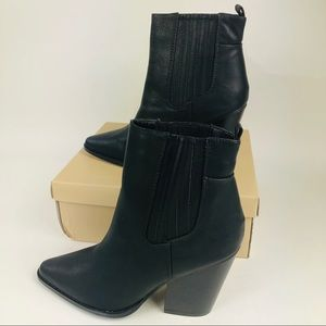 YOKI Alexis-13 Chunky Heel Pointed Toe Boot 11